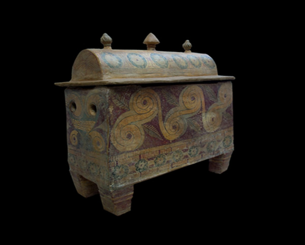 mycenean clay box